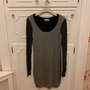 Pink Rose Gray & Black Sweater Dress